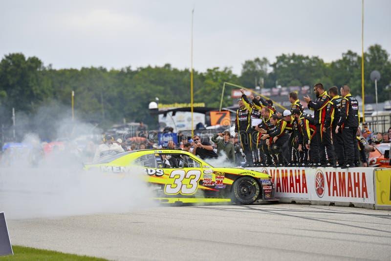 NASCAR: Am 29. August Straße Amerika 180 oben abgefeuert durch Johnsonville lizenzfreie stockfotografie