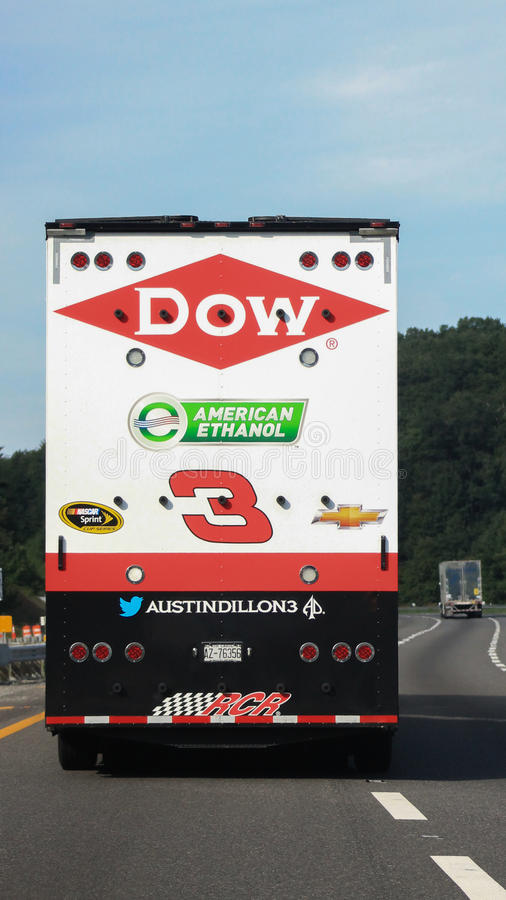 NASCAR-Austin Dillon #3 trailer stock images