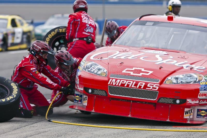 NASCAR: AutoClub 500 22 van de Reeks van de Kop van de sprint Februari royalty-vrije stock foto's