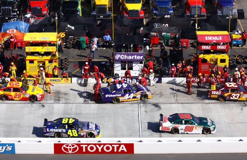 NASCAR - Batentes do poço! fotos de stock