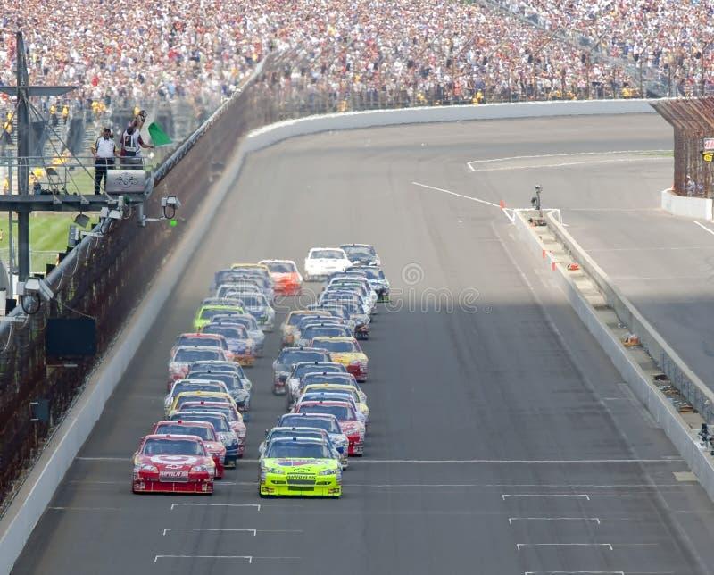 NASCAR: Begin Allstate 400 bij Brickyard royalty-vrije stock fotografie
