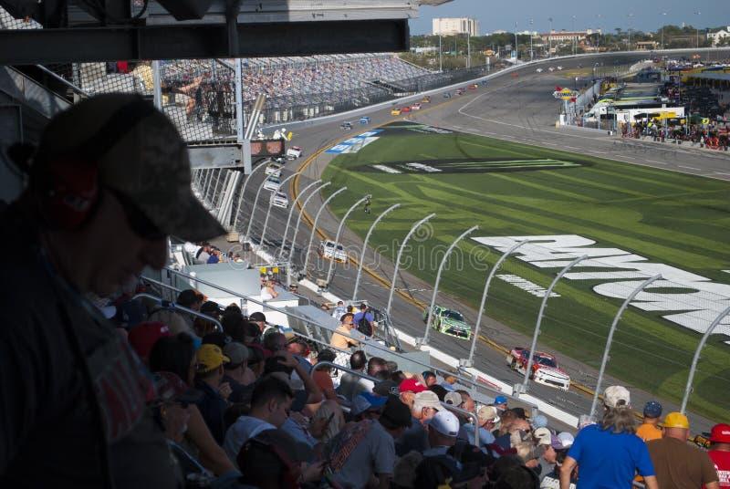Nascar Berömt springa för bil, Daytona speedway royaltyfri foto