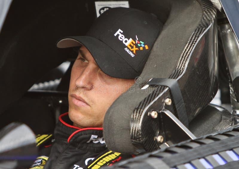 NASCAR Bestuurder Denny Hamlin stock afbeelding