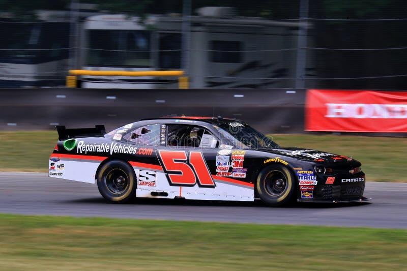 NASCAR-Bestuurder Jeremy Clements op de cursus stock afbeelding