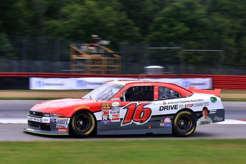 NASCAR-Bestuurder Ryan Reed op de cursus royalty-vrije stock foto's