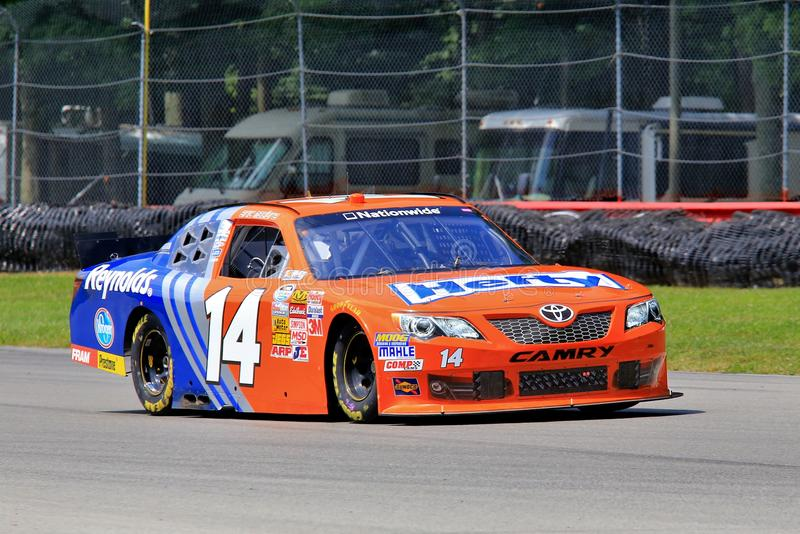 NASCAR-bilchaufför Jeff Green royaltyfri fotografi