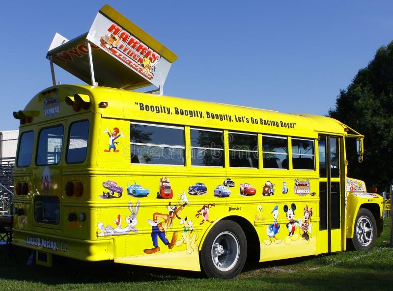 NASCAR Bus lizenzfreies stockfoto