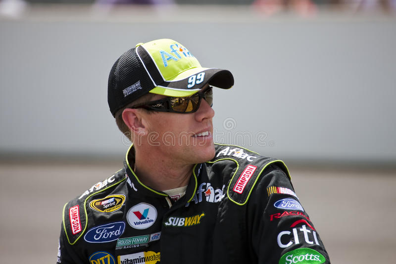 NASCAR: Carl Edwards Allstate 400 royalty-vrije stock afbeeldingen