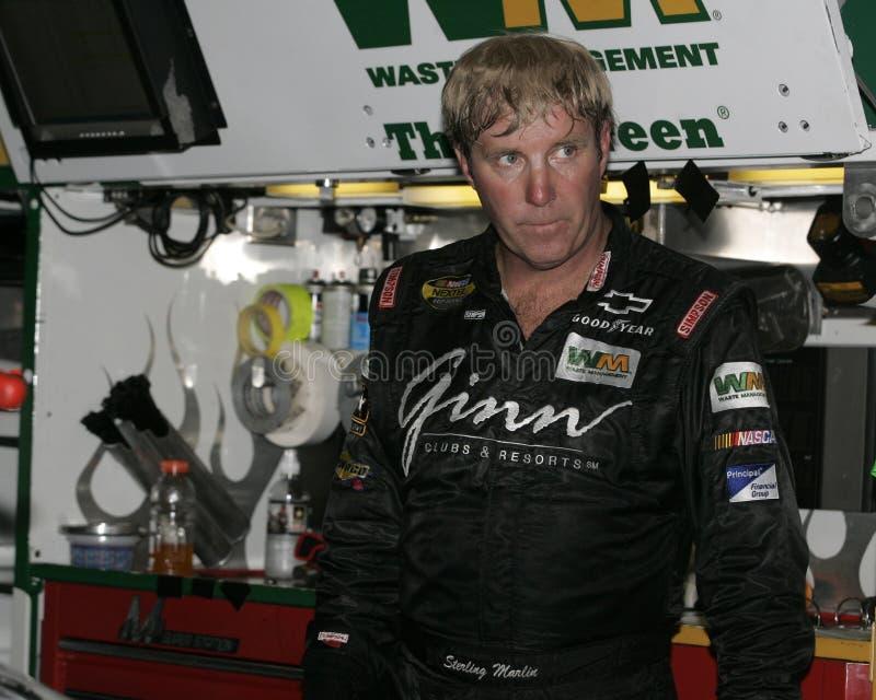 NASCAR-chaufför Sterling Marlin arkivfoto