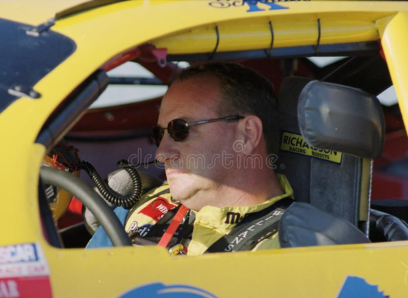 NASCAR-chauff?r Ken Schrader royaltyfri fotografi