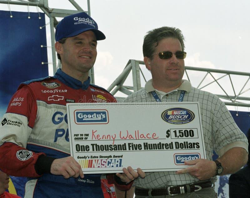 NASCAR-chauff?r Kenny Wallace arkivbilder