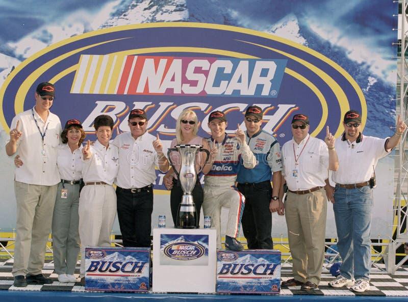 NASCAR-chauff?r Kevin Harvick fotografering för bildbyråer