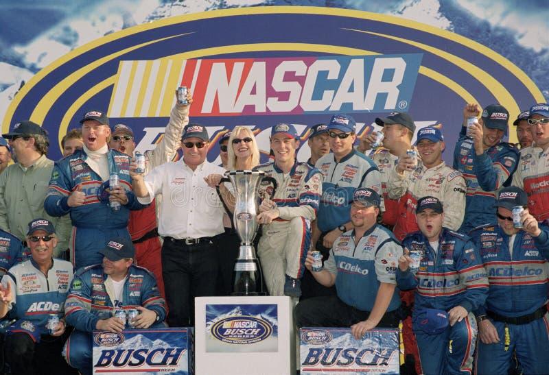 NASCAR-chauff?r Kevin Harvick arkivbild