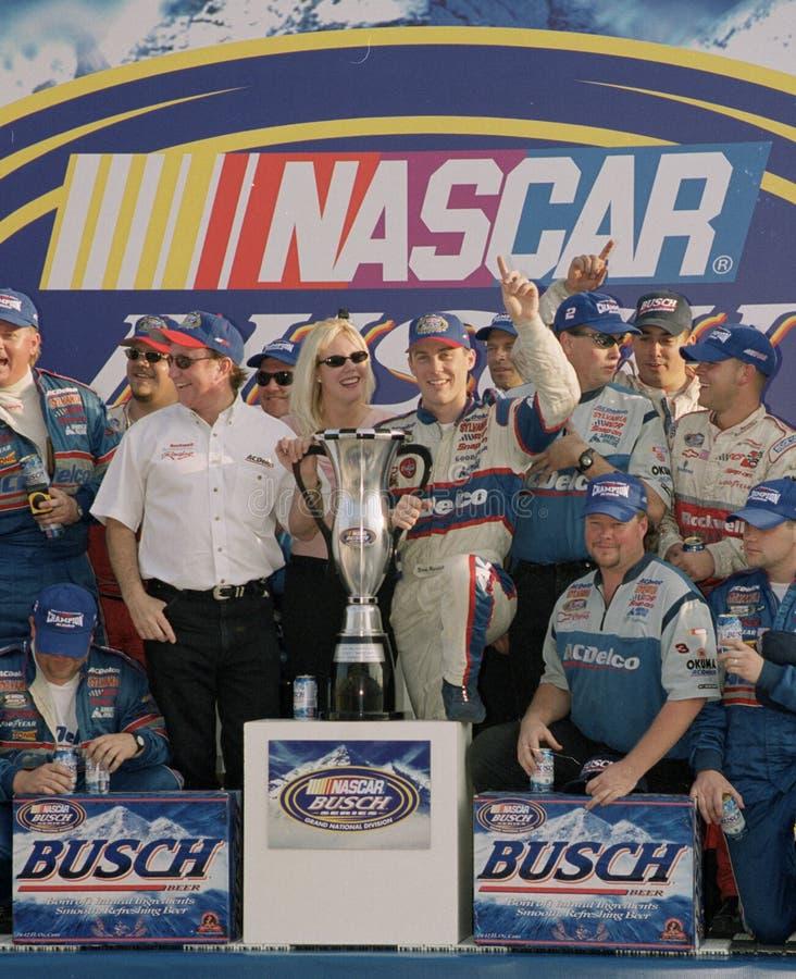 NASCAR-chauff?r Kevin Harvick arkivfoto