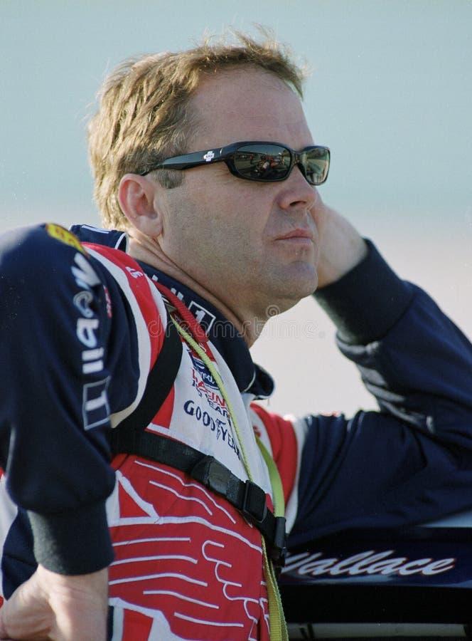 NASCAR-chauff?r Mike Wallace royaltyfria bilder