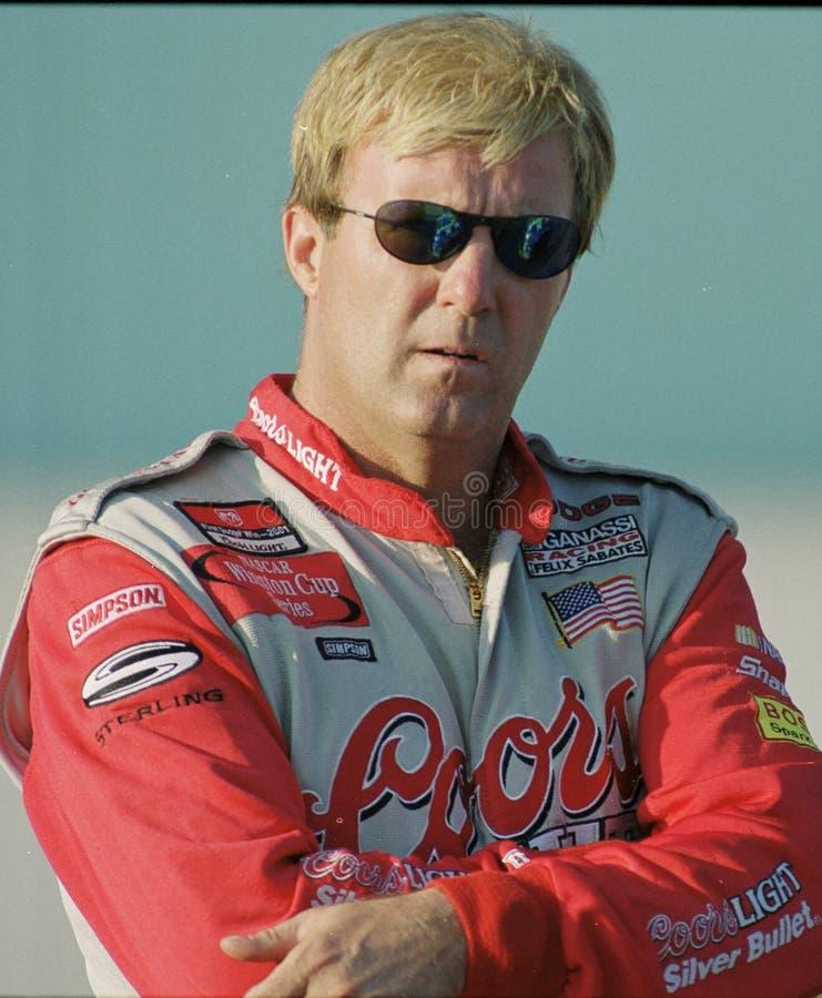 NASCAR-chauff?r Sterling Marlin royaltyfria bilder