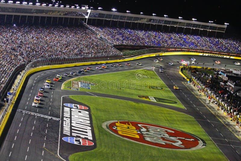 NASCAR - Coca-cola 600 bij de Speedwaybaan van de Motor van Charlotte stock afbeelding