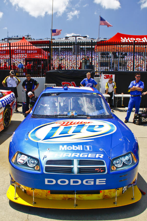 NASCAR - Coca-cola 600 Kurt Busch #2 fotografia de stock royalty free