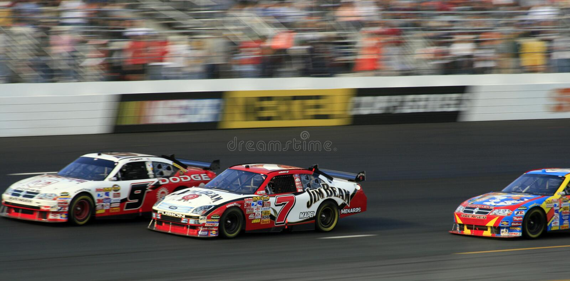 NASCAR - Corsa al rivestimento! fotografia stock