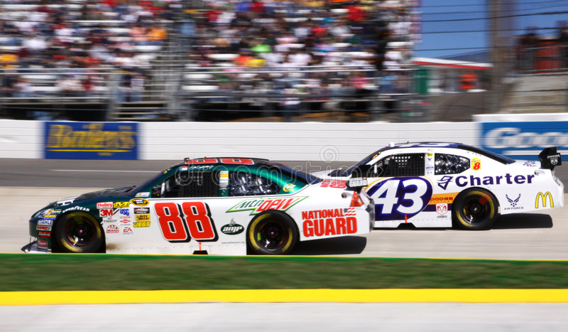Download NASCAR - Dale Jr Leads! editorial stock image. Image of international - 8909624