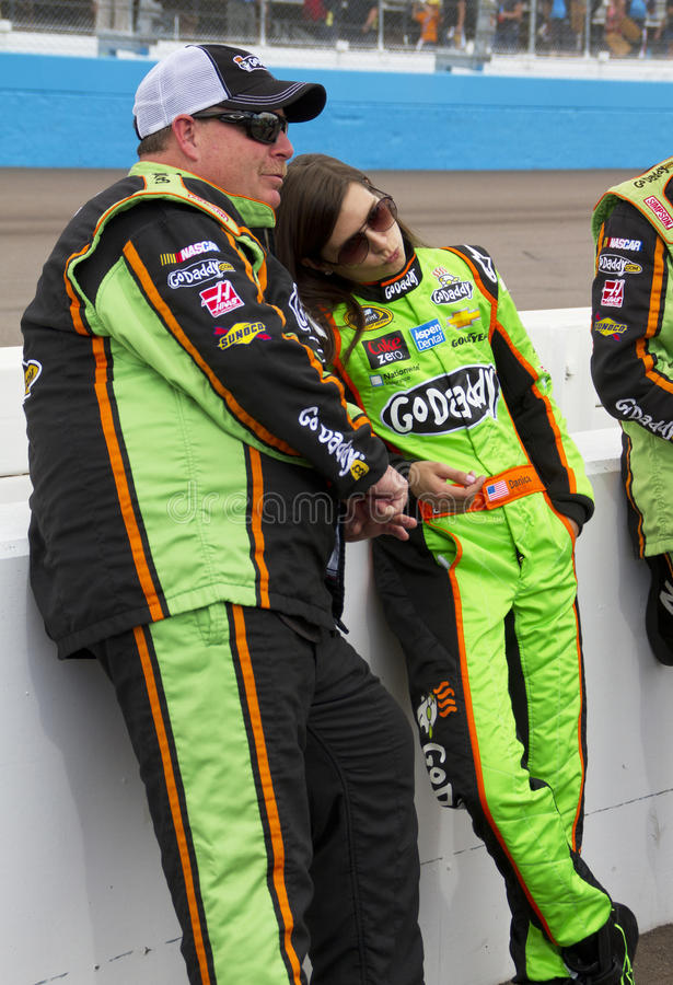 NASCAR Danica Πάτρικ διεθνές Raceway του Phoenix στοκ εικόνα με δικαίωμα ελεύθερης χρήσης