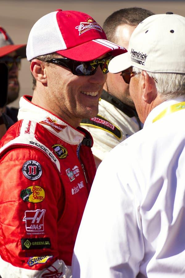 NASCAR-de Jachtbestuurder Kevin Harvick van de Sprintkop royalty-vrije stock afbeeldingen