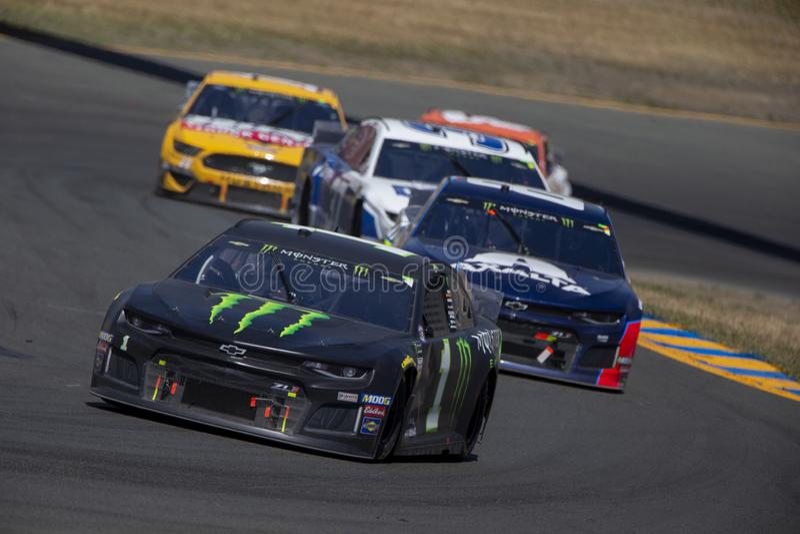 NASCAR: 23 de junho Toyota/mercado 350 das economias fotografia de stock