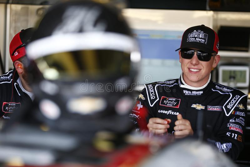 NASCAR: 4 de maio OneMain 200 financeiros fotografia de stock royalty free