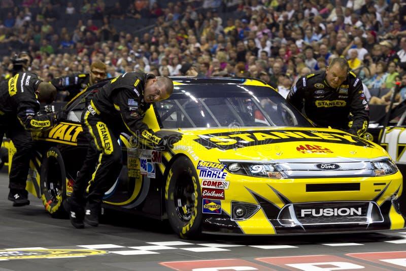 NASCAR: De Uitdaging Ambrose van de Bemanning van de kuil royalty-vrije stock foto's
