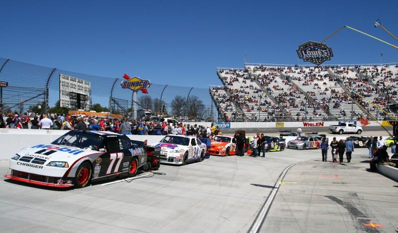 NASCAR - Del pozzo della strada corsa pre a Martinsville fotografia stock libera da diritti