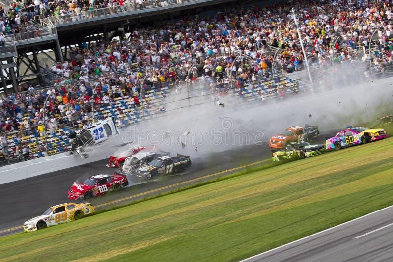 NASCAR: Destruições de Kyle Larson no daytona fotos de stock
