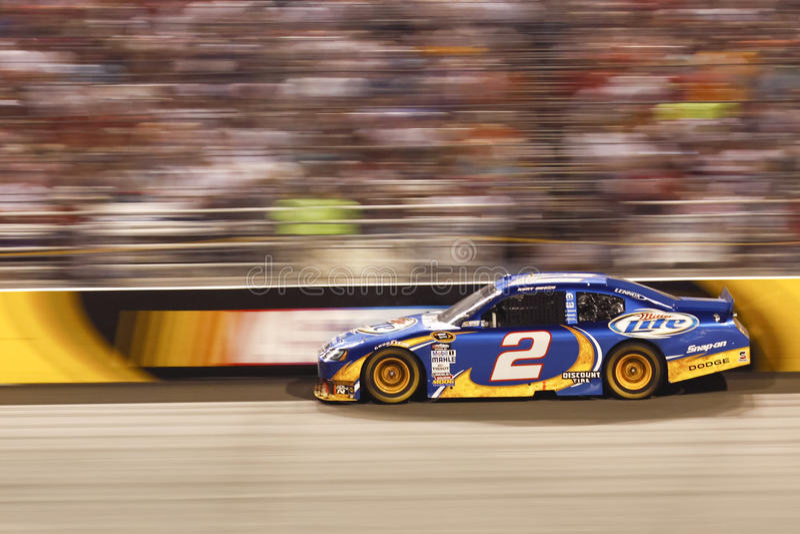 NASCAR - Deuce #2 azul em Richmond imagem de stock royalty free