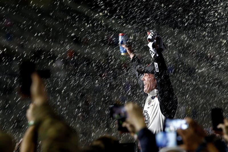 NASCAR: Dobleces del 25 de febrero del honor QuikTrip 500 fotografía de archivo libre de regalías