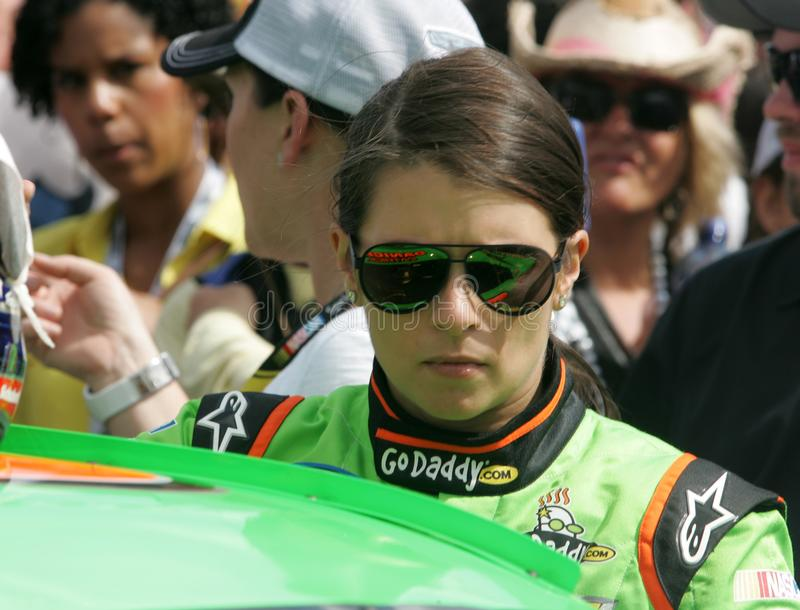 NASCAR Driver Danica Patrick. Danica Patrick walks to her car on pit road prior to the start of the NASCAR Nationwide Series DRIVE4COPD 300, at Daytona stock photos