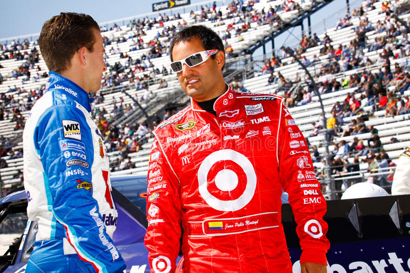 Download NASCAR Drivers Montoya And Allmendinger Editorial Photo - Image: 21302496