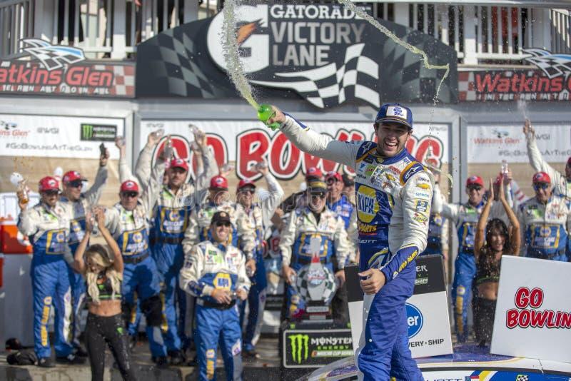 NASCAR: El 4 de agosto va a rodar en la ca?ada imagenes de archivo