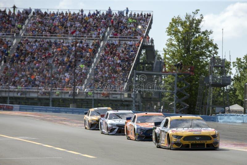 NASCAR: El 4 de agosto va a rodar en la ca?ada fotos de archivo libres de regalías