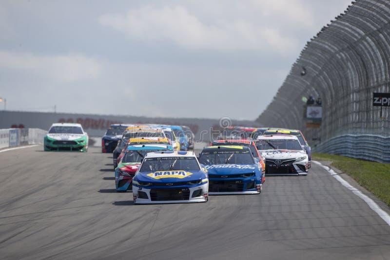 NASCAR: El 4 de agosto va a rodar en la ca?ada imagen de archivo libre de regalías