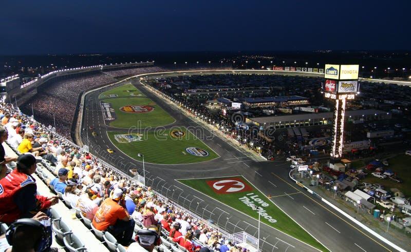 NASCAR - Elevação acima de LMS fotografia de stock royalty free