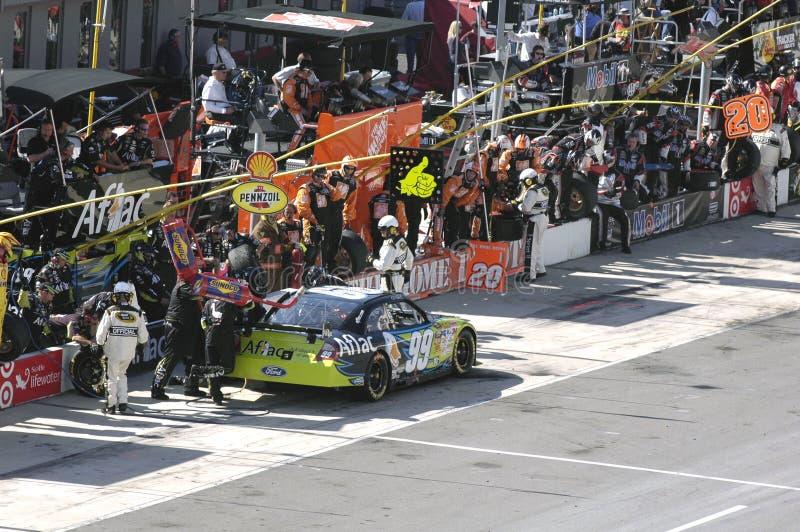 NASCAR em Bristol. fotografia de stock royalty free