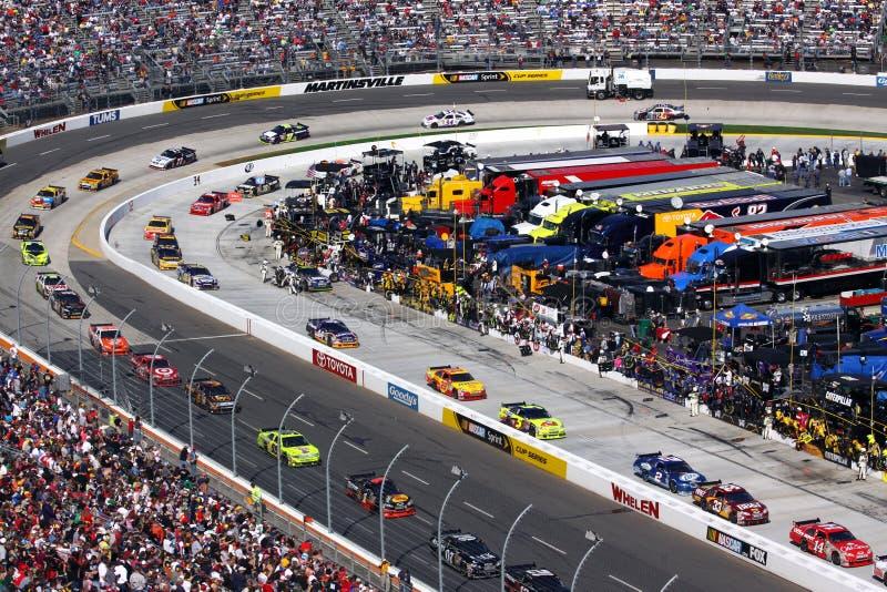 NASCAR - entrar para o poço para fotos de stock