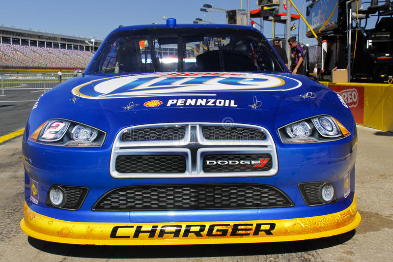 NASCAR - Espediente di #2 Miller Lite del Keselowski immagini stock