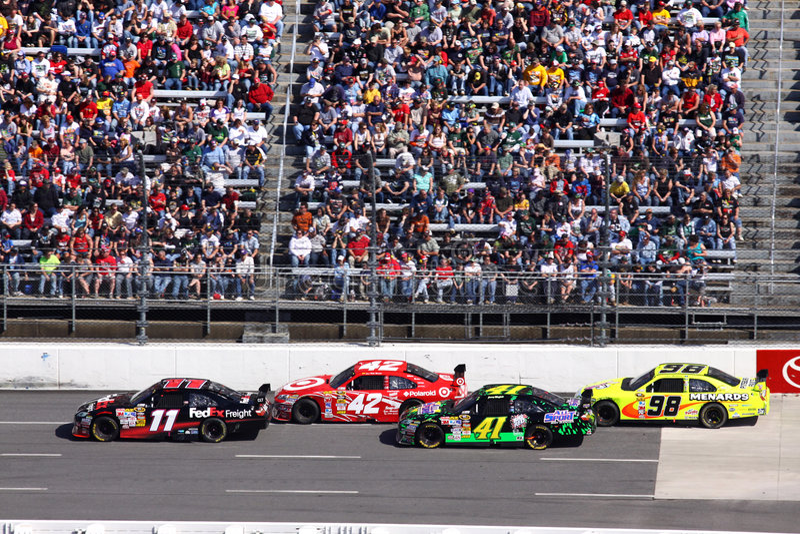 NASCAR - Estiramento traseiro em Martinsville imagens de stock