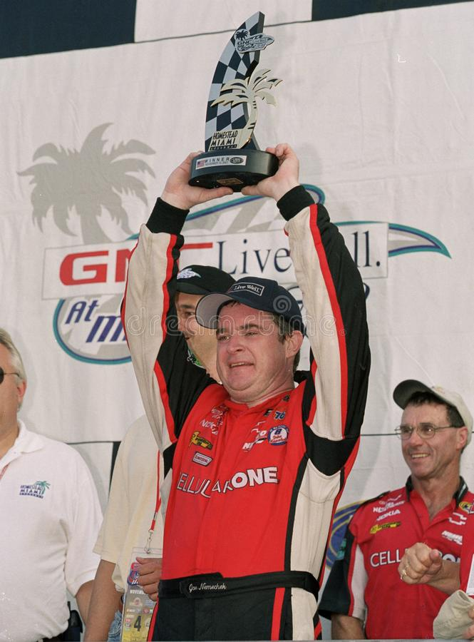 NASCAR-Fahrer Joe Nemechek stockbilder