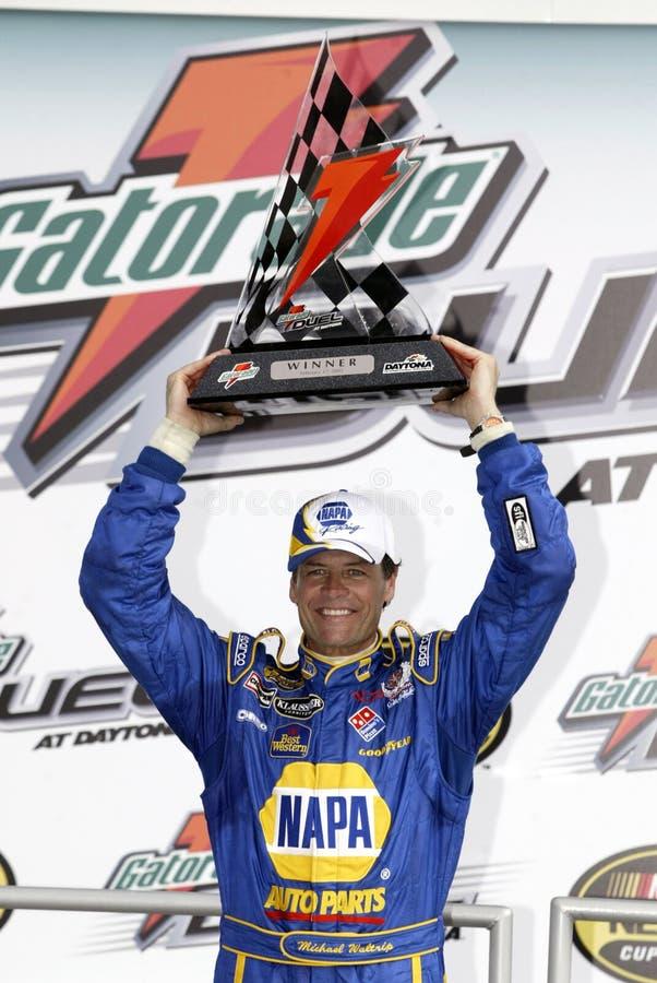 NASCAR-Fahrer Michael Waltrip lizenzfreies stockbild