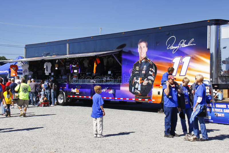 Download NASCAR - Fans At Hamlin's Merchandise Trailer Editorial Stock Image - Image of competition, festivities: 23489764