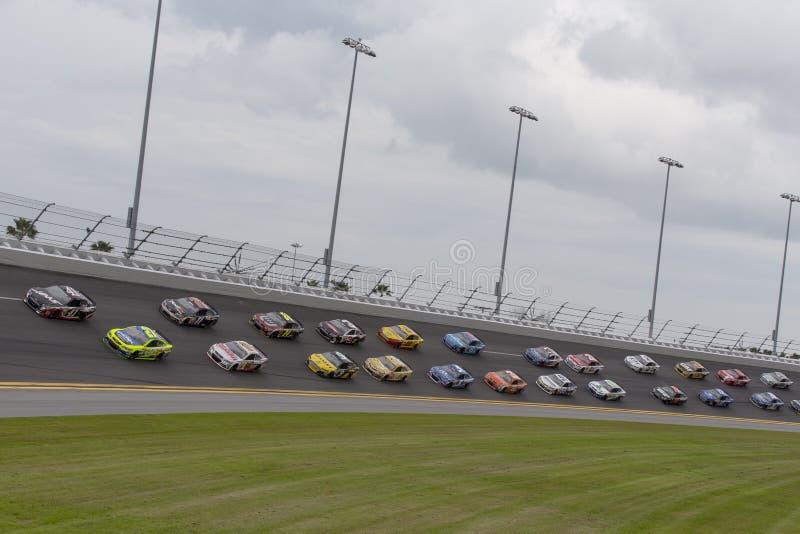 NASCAR:  23 februari de Internationale Speedwaybaan van Daytona stock foto