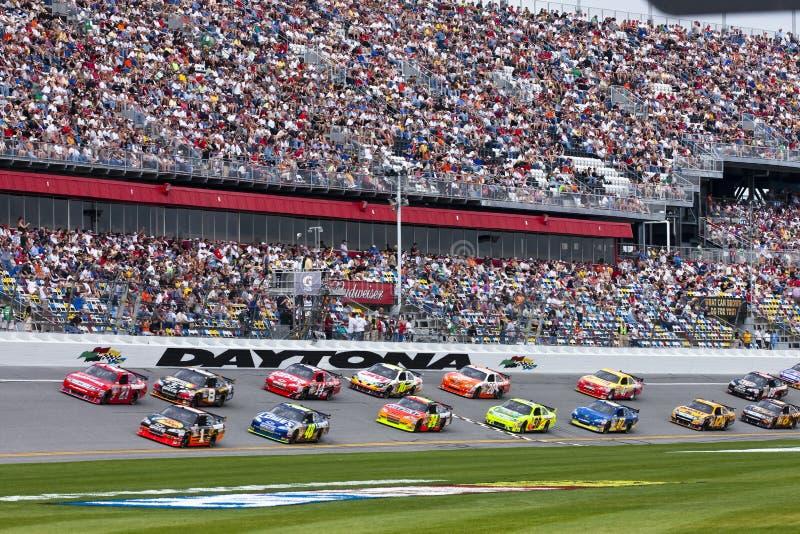 NASCAR Gatorade het Kwalificerende Ras van 150 Mijl stock foto
