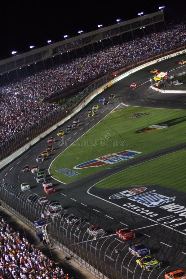 NASCAR - giù la stirata fronta! fotografie stock libere da diritti