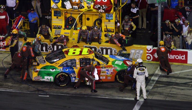 NASCAR - Grupo de poço de Kyle na ação! imagem de stock